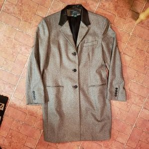 Lauren Hacking Jacket Tweed/Leather 14